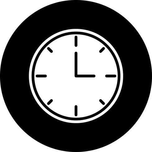 klocka ikon design vektor