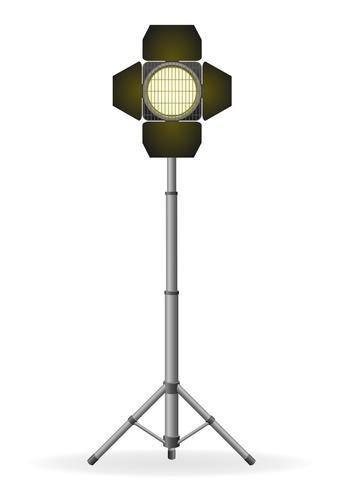 Film Flutlicht-Vektor-Illustration vektor