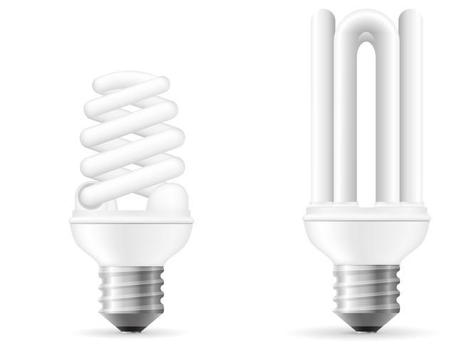 energibesparande glödlampa vektor illustration