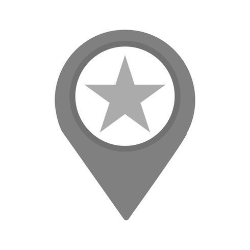 Markiertes Standort-Icon-Design vektor