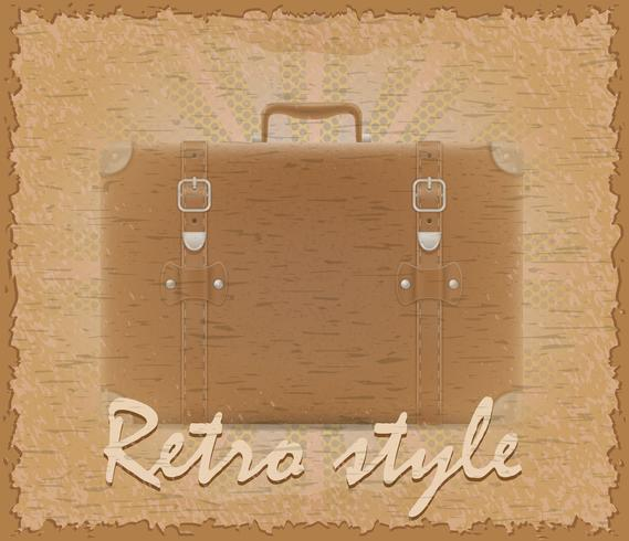 alte Koffer-Vektorillustration des Retrostils Plakat vektor