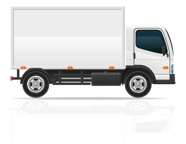 liten lastbil för transport last vektor illustration