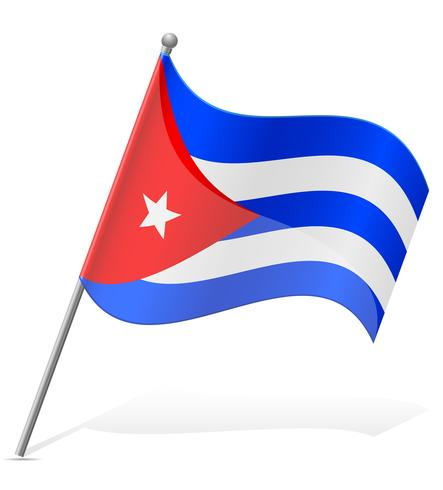 flagga av Kuba vektor illustration
