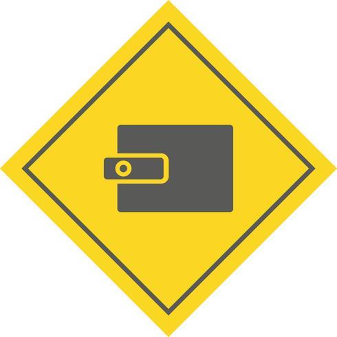 plånbok ikon design vektor