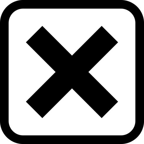 Icon Design abbrechen vektor