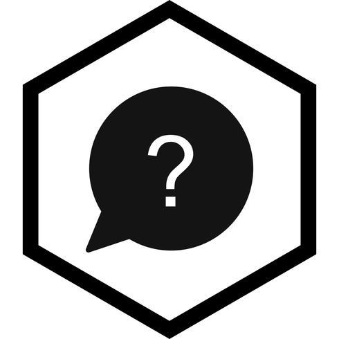 fråga ikon design vektor