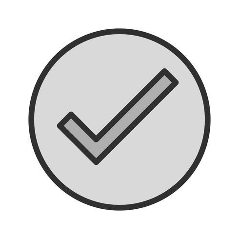 Gültiges Icon Design vektor