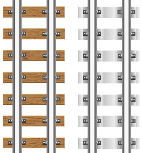 Schienen mit Beton- und Holzschwellen vector Illustration