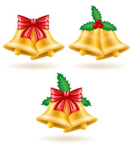 Weihnachtsgoldglocken-Vektorillustration vektor