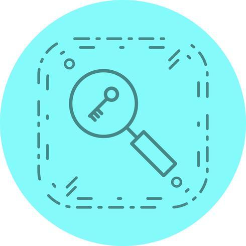 sökord ikon design vektor