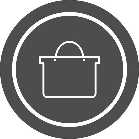 Einkaufstasche Icon Design vektor