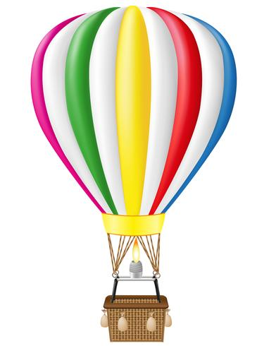 Heißluftballon-Vektor-Illustration vektor