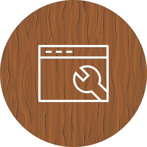 Browsereinstellungen-Icon-Design vektor