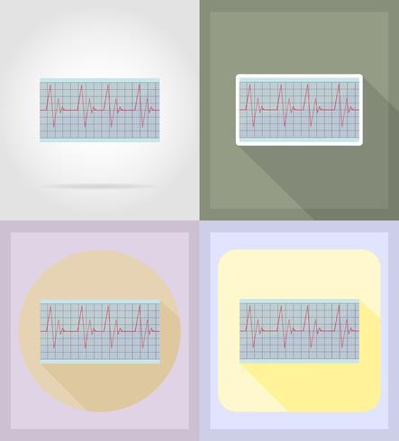medizinische Gegenstände und flache Ikonenillustration der Ausrüstung vektor