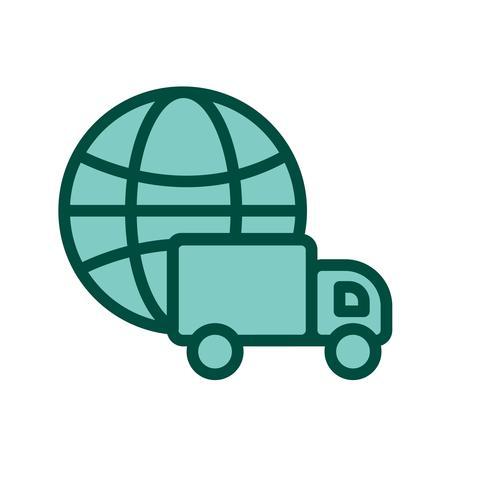 Globales Lieferungs-Ikonendesign vektor