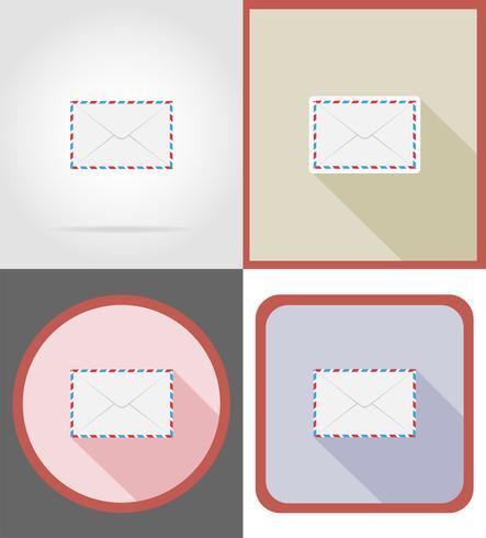 leveranspost platta ikoner vektor illustration