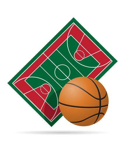 Basketballplatz-Vektor-Illustration vektor