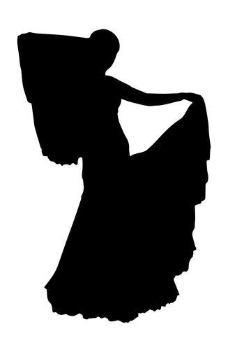 realistische Schattenbild-Vektorillustration der Braut vektor