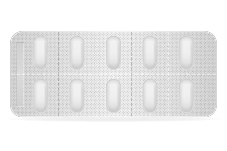 medizinische Pillen im Paket für Behandlungsvektorillustration vektor