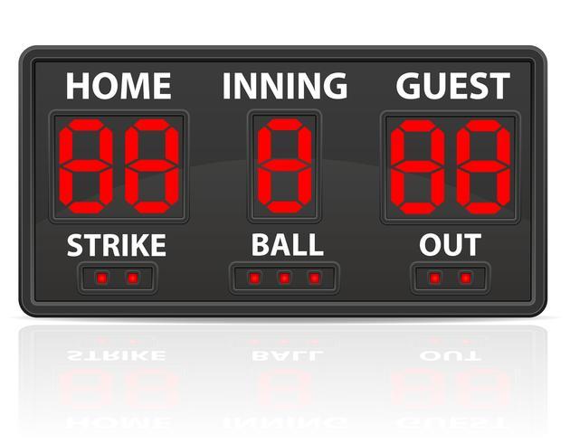 Baseball Sport digitale Anzeigetafel-Vektor-Illustration vektor