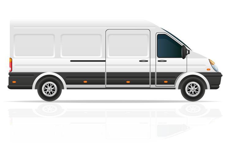 Minibus für die Beförderung der Frachtvektorillustration vektor