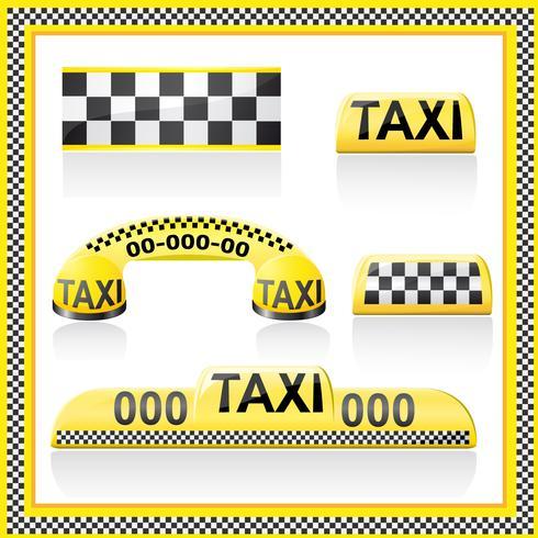 Symbole sind Symbole des Taxis vektor