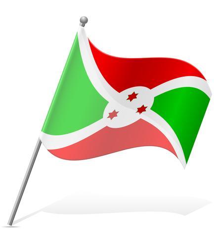 Flagge der Burundi-Vektor-Illustration vektor
