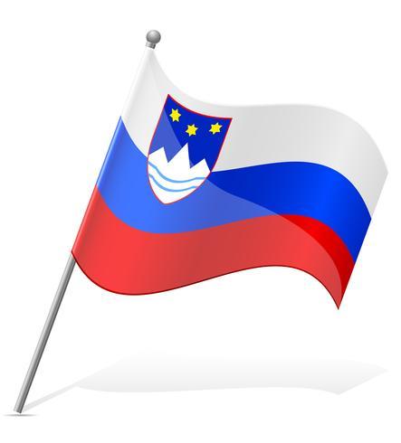 Sloveniens flagg vektor illustration