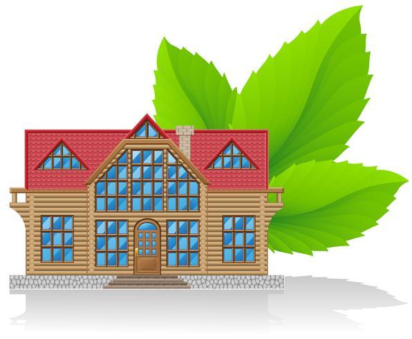 begreppet miljö hem vektor illustration