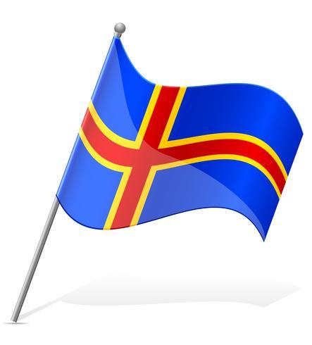 Flagge der Aland-Vektor-Illustration vektor
