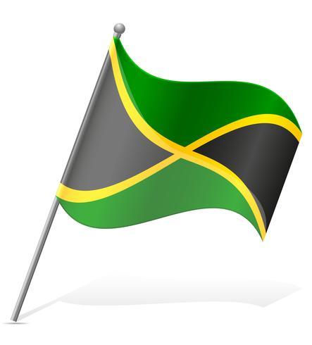 Flagge der Jamaika-Vektor-Illustration vektor