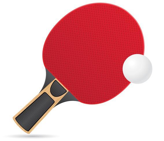 racket och boll för bordtennis ping pong vektor illustration