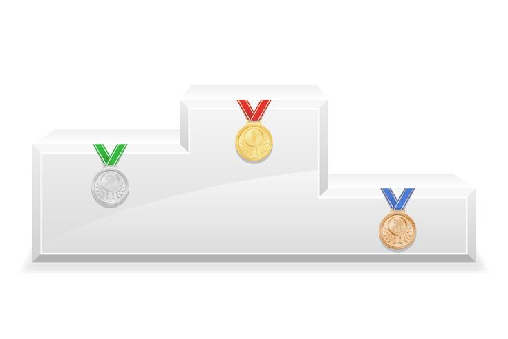 sport vinnare podium piedestal lager vektor illustration