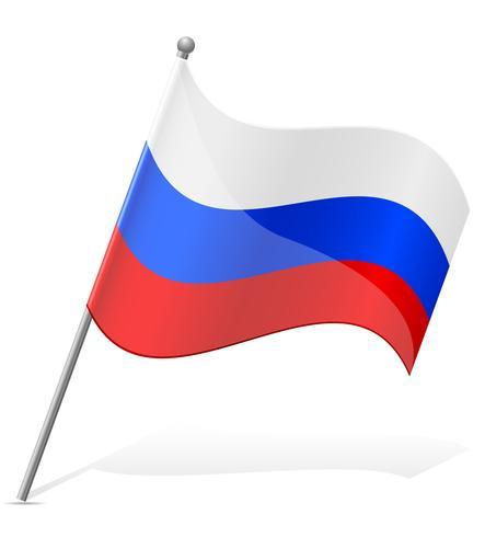 flagga av ryssland vektor illustration