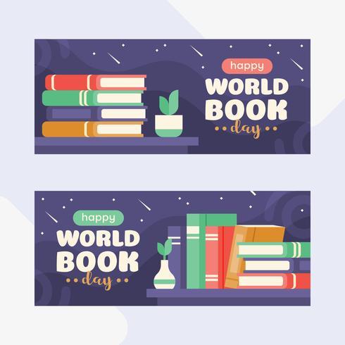 Illustration av en bunt med böcker med ett äpple och en mini globe på stjärnig natt bakgrund. Plattstil illustration vektor