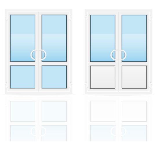 transparente Kunststoff-Türen-Vektor-Illustration vektor