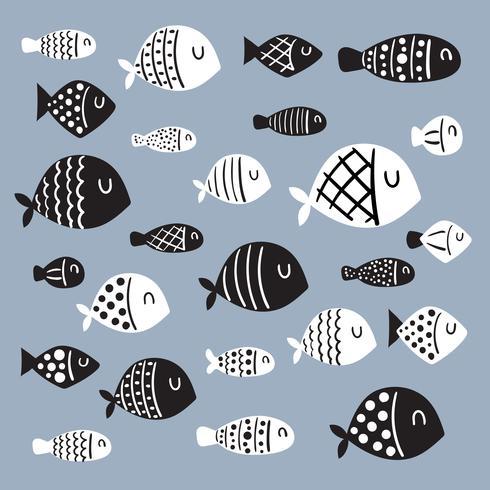 fisk karaktär vektor design