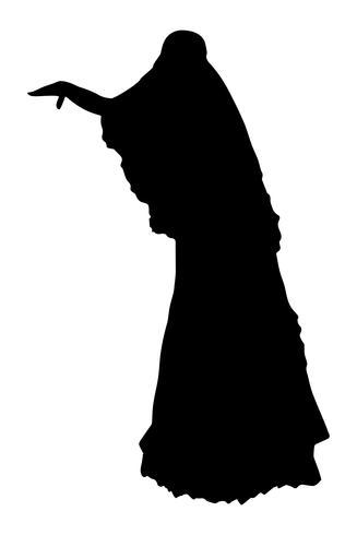 brud realistisk siluett vektor illustration