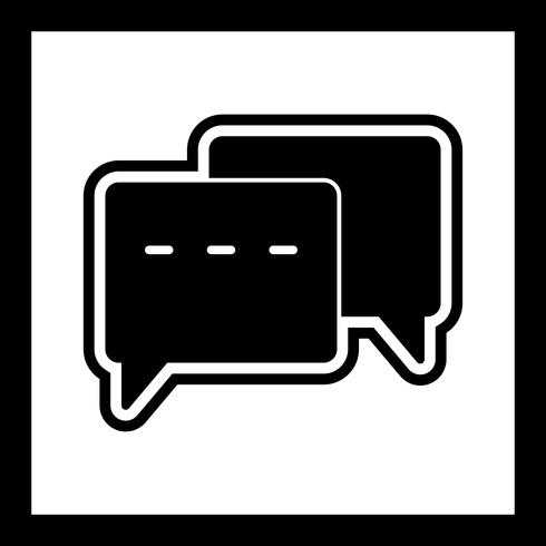Konversation Icon Design vektor
