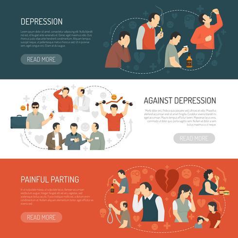 Depression Horisontella Banderoller vektor