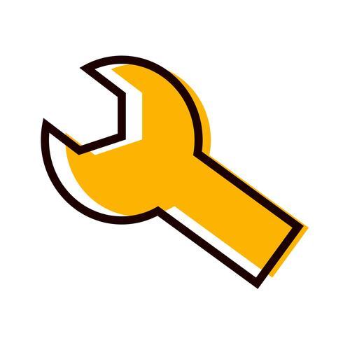 Icon Design konfigurieren vektor