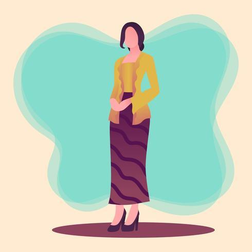 Kebaya Kartini-Vektor vektor