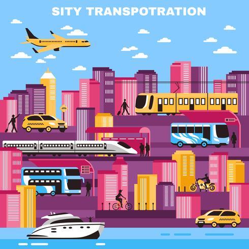 Stadt-Transport-Vektor-Illustration vektor