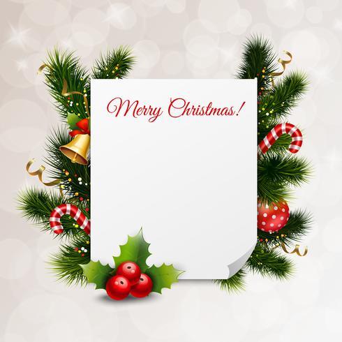 God jul festlig bakgrund vektor
