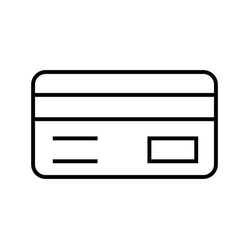 Kreditkartenlinie schwarze Ikone vektor