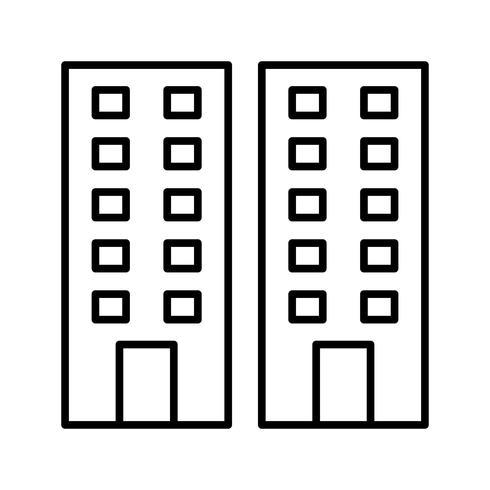 Bürozeile schwarze Ikone vektor