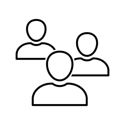 Schwarze Linie für Mitglieder vektor