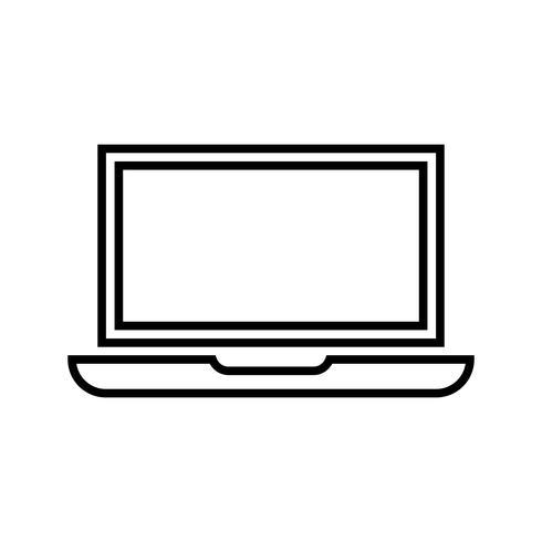 Online-Statistiken Line Black Icon vektor