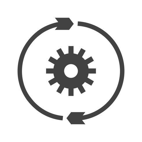 Symbol für die Konvertierungseinstellungs-Glyphe vektor