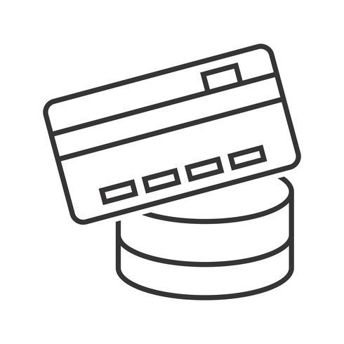 Zahlungsmethode Line Black Icon vektor